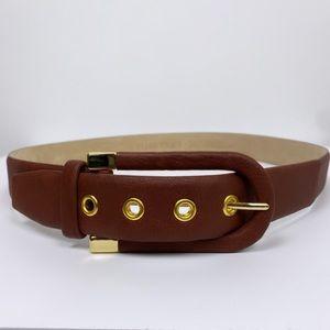 Ellen Tracy Brown Leather Belt